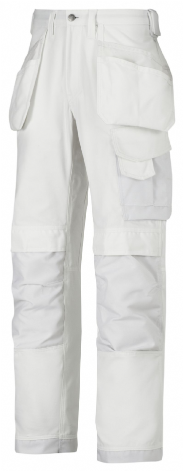Snickers 3214 Canvas+ Craftsmen Holster Pocket Trousers (White)